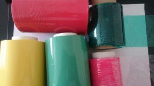 bobine étirable de couleur opaque et translucide