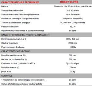 robot-S5-FRD-caracteristiques
