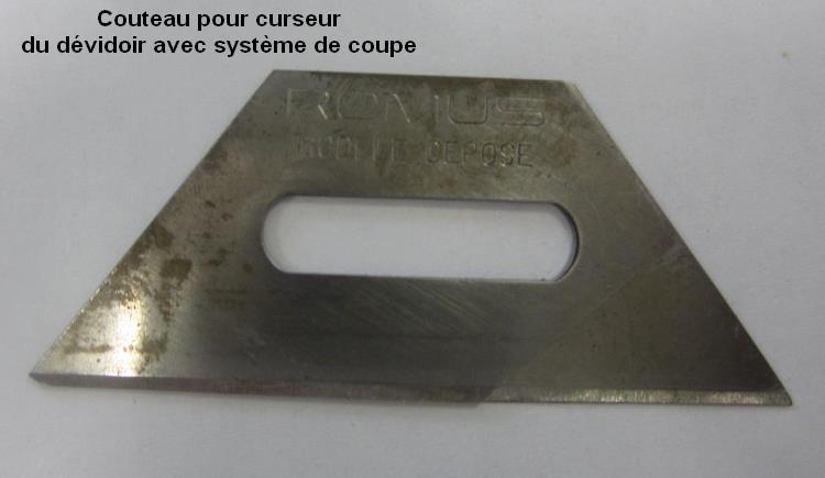 couteau système de coupe dérouleur
