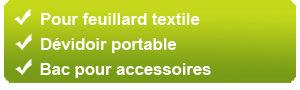 Pour feuillard textile