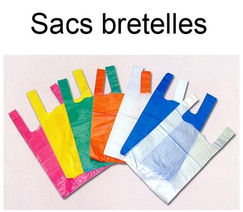 Sac bretelles réutilisable différents coloris en 50µ