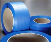 feuillard polypropylène bleu