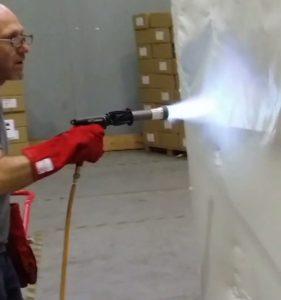 palette rétractable avec pistolet gaz RAPTOR