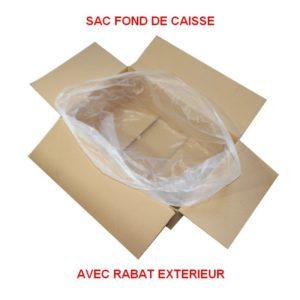 sac avec rabat extérieur à la caisse