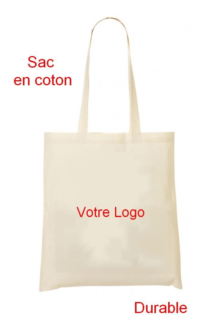 sac durable personnalisé en coton