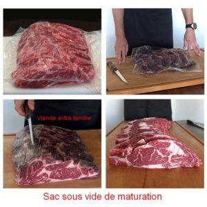 sachet sous vide maturation viande