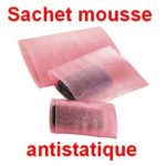 sachet mousse anti statique