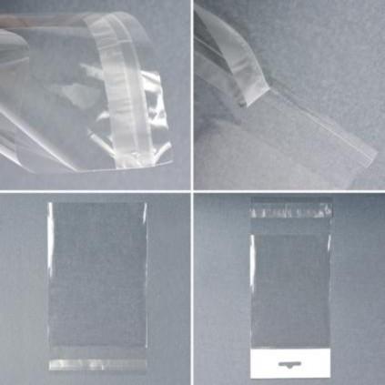 sac polypropylène avec fermeture adhésive et trou européen