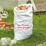 sac PP tissé pour gravats