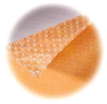 couche papier sur film à bulle