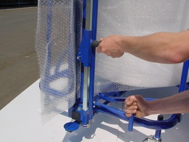dévidoir vertical coupe film à bulles
