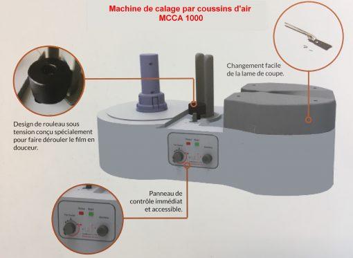 Machine d'emballage pour caler et protéger MCCA 1000