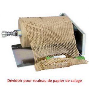 Dévidoir rouleau de calage en papier