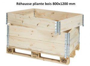 réhausse palette pliante bois pour le stockage ou le transport