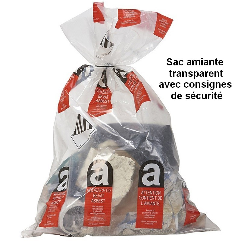 Sac amiante transparent