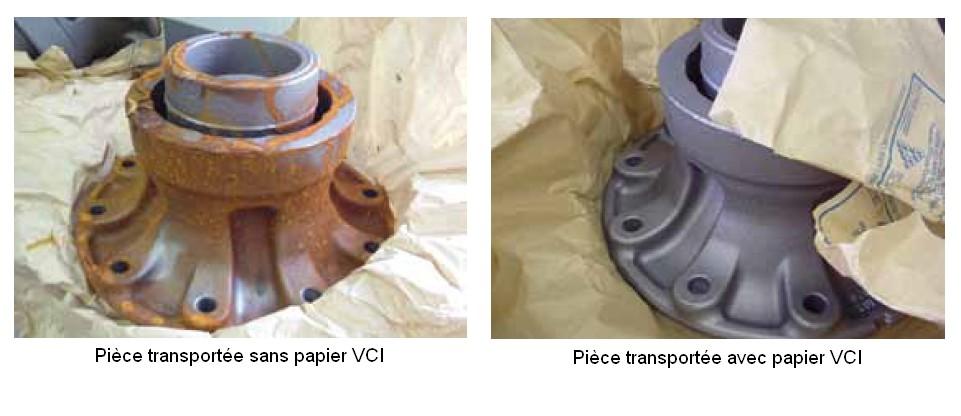 Papier VCI pouir éviter la corrosion durant le transport ou le stockage