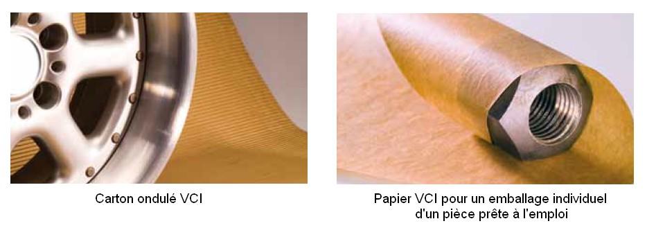 Carton ondulé ou papier VCI