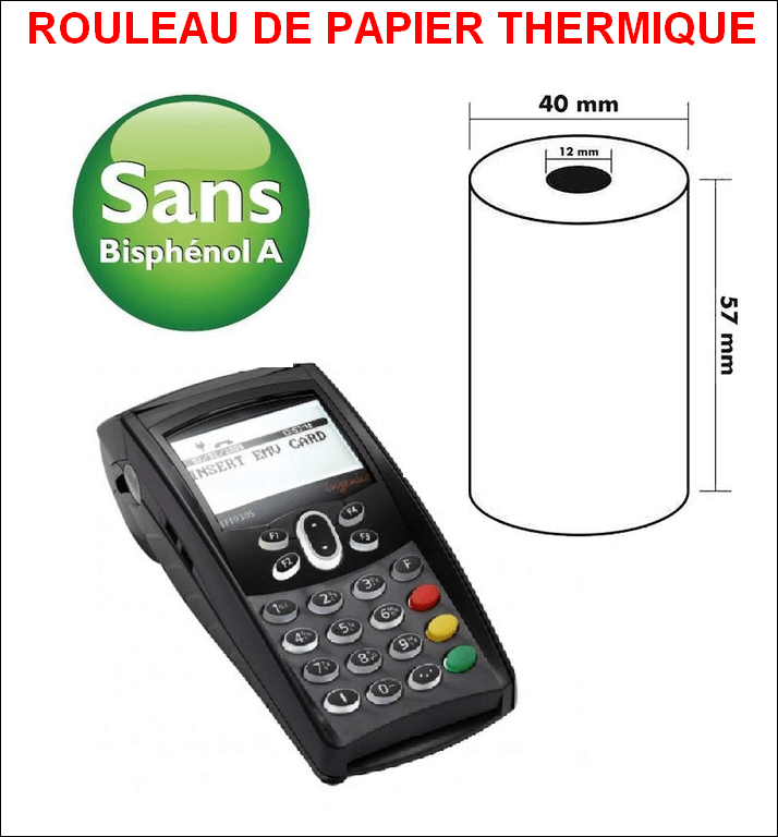 Rouleau de papier thermique pour TPE