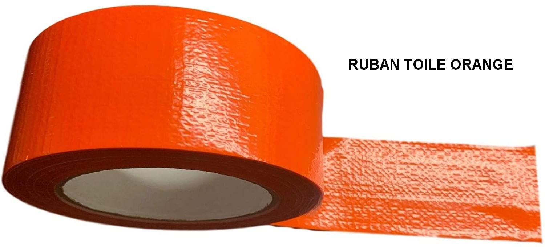 Ruban toilé orange pour le maintient du film de protection